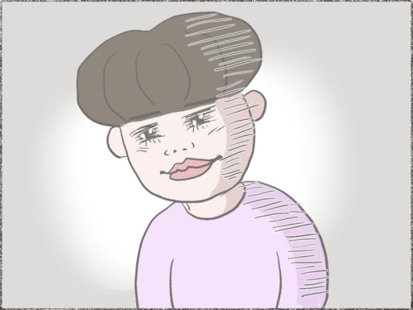 ショックを受ける女性の顔のイラスト