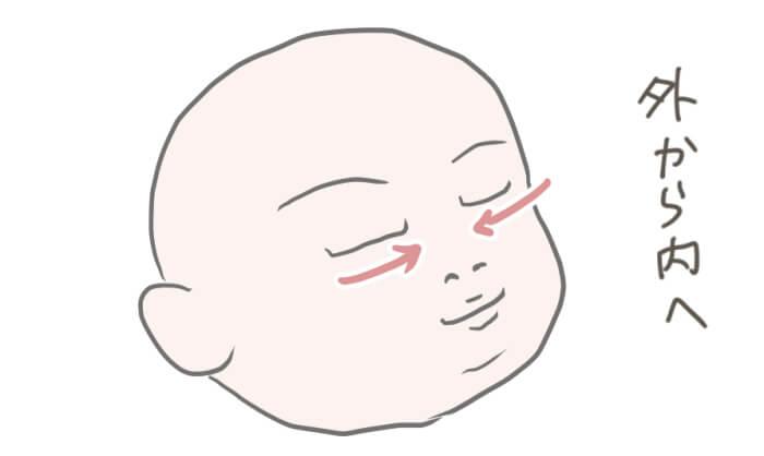沐浴中の赤ちゃんのイラスト