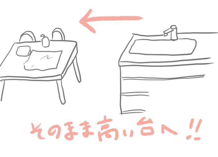 沐浴しているイラスト