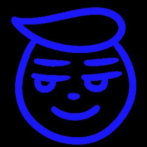 手書きの顔のファビコンイラスト