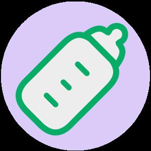 哺乳瓶のファビコンのサンプル画像