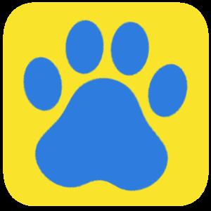 犬の足跡のファビコンのサンプル画像