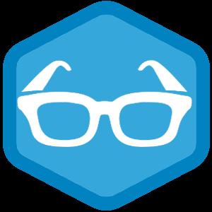 メガネのファビコンのサンプル画像